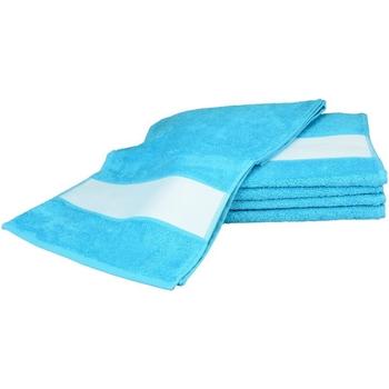 Casa Toalha e luva de banho A&r Towels 30 cm x 140 cm Aqua Blue