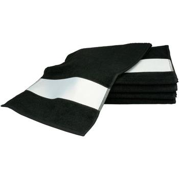 Casa Toalha e luva de banho A&r Towels 30 cm x 140 cm Preto
