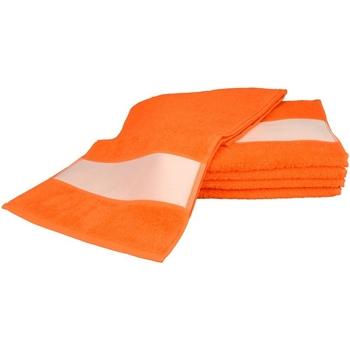 Casa Toalha e luva de banho A&r Towels 30 cm x 140 cm Laranja Brilhante