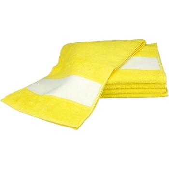 Casa Toalha e luva de banho A&r Towels 30 cm x 140 cm Amarelo Brilhante