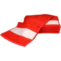 Casa Toalha e luva de banho A&r Towels 30 cm x 140 cm Vermelho Fogo