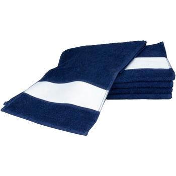 Casa Toalha e luva de banho A&r Towels 30 cm x 140 cm marinha francesa