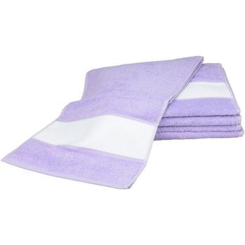 Casa Toalha e luva de banho A&r Towels 30 cm x 140 cm Púrpura claro