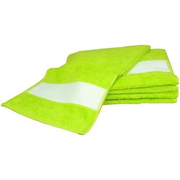 Casa Toalha e luva de banho A&r Towels 30 cm x 140 cm Verde lima