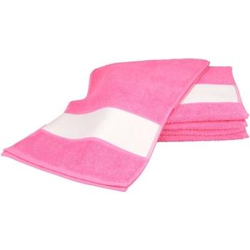 Casa Toalha e luva de banho A&r Towels 30 cm x 140 cm Pink