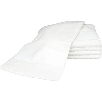 Casa Toalha e luva de banho A&r Towels 30 cm x 140 cm Branco