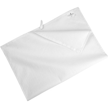 Casa Toalha de chá Towel City Taille unique Branco