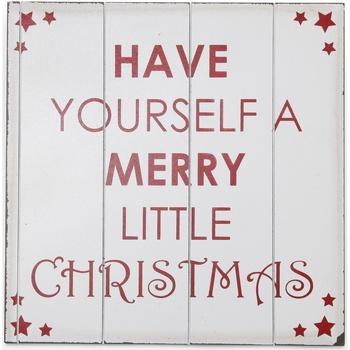 Casa Decorações festivas Christmas Shop Taille unique (40 x 40 cm) Branco / Vermelho