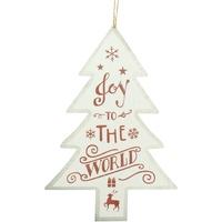 Casa Decorações festivas Christmas Shop RW5076 Alegria branca