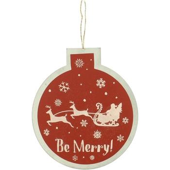 Casa Decorações festivas Christmas Shop RW5077 Red Be Merry