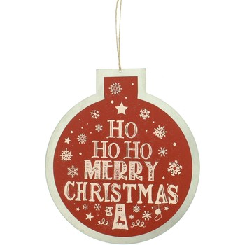 Casa Decorações festivas Christmas Shop Taille unique Vermelho Ho Ho Ho Ho