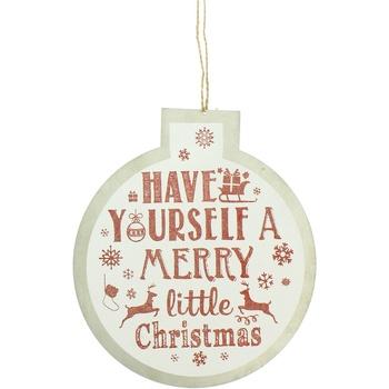 Casa Decorações festivas Christmas Shop RW5077 White Merry