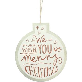Casa Decorações festivas Christmas Shop RW5077 Desejo Branco