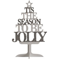 Casa Decorações festivas Christmas Shop RW5080 Prata/branco