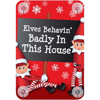 Casa Decorações festivas Christmas Shop RW6420 Elfos que se comportam mal nesta casa