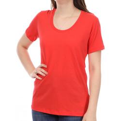Textil Mulher T-Shirt mangas curtas Diesel  Vermelho