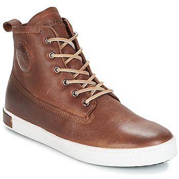 Sapatos Homem Sapatilhas de cano-alto Blackstone INCH WORKER ON FOXING FUR Castanho