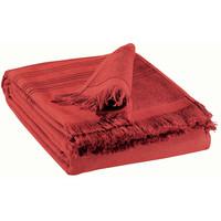 Casa Toalha e luva de banho Vivaraise CANCUN Vermelho