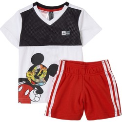Textil Rapaz Conjunto adidas Originals - Tuta bianco GM6930 BIANCO