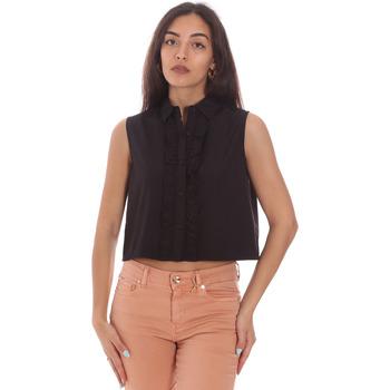 Textil Mulher camisas Gaudi 111FD45001 Preto