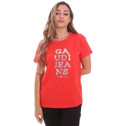 Textil Mulher T-Shirt mangas curtas Gaudi 111BD64063 Vermelho