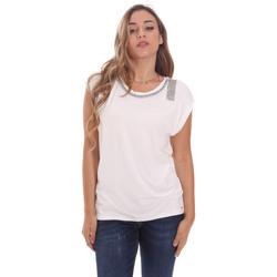Textil Mulher T-Shirt mangas curtas Gaudi 111FD64023 Branco