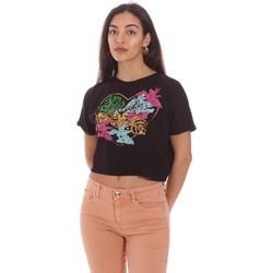 Textil Mulher T-Shirt mangas curtas Gaudi 111BD64041 Preto