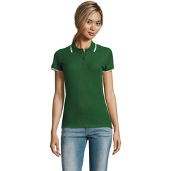 Textil Mulher Polos mangas curta Sols PRACTICE POLO MUJER Verde