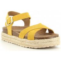 Sapatos Rapariga Sandálias Obi Shoes PALA CRUZADA jaune