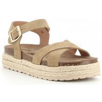 Sapatos Rapariga Sandálias Obi Shoes PALA CRUZADA Beige