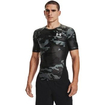Textil Homem T-Shirt mangas curtas Under Armour HG Isochill Comp Print Cinzento