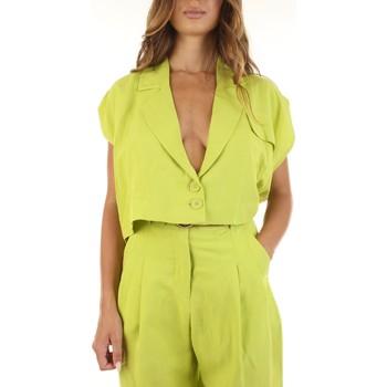 Textil Mulher Casacos de malha Haveone E127 Amarelo