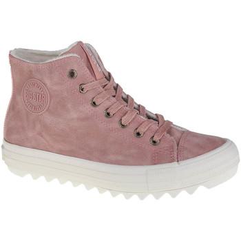 Sapatos Mulher Sapatilhas de cano-alto Big Star Shoes Big Top Rose