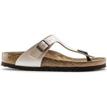 Sapatos Mulher Chinelos Birkenstock Gizeh BS 943871 Graceful Pearl White Branco