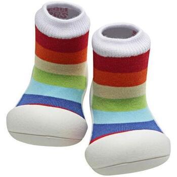 Sapatos Criança Pantufas bebé Attipas Rainbow White Multicolor