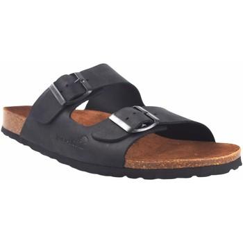 Sapatos Homem Chinelos Interbios Sandália masculina  9560 preta Preto
