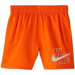 Textil Rapaz Fatos e shorts de banho Nike BAÑADOR NIÑO  NESSA771 Laranja