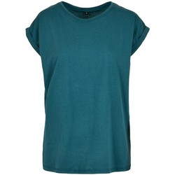 Textil Mulher T-Shirt mangas curtas Build Your Brand Extended Teal