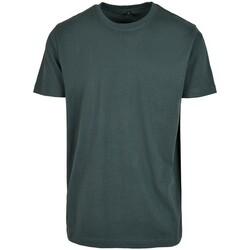 Textil Homem T-Shirt mangas curtas Build Your Brand BY004 Garrafa Verde