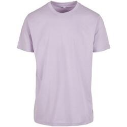 Textil Homem T-Shirt mangas curtas Build Your Brand BY004 Lilás