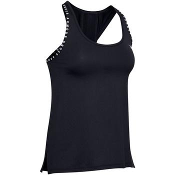 Textil Mulher Tops sem mangas Under Armour UA022 Preto/branco