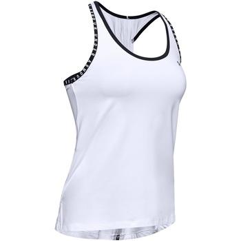 Textil Mulher Tops sem mangas Under Armour UA022 Branco/Preto