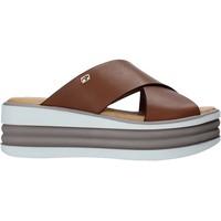 Sapatos Mulher Chinelos Valleverde 28100 Castanho