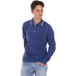 Textil Homem Polos mangas compridas Key Up 2L711 0001 Azul
