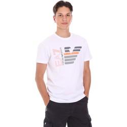 Textil Homem T-Shirt mangas curtas Ea7 Emporio Armani 3KPT22 PJ6EZ Branco