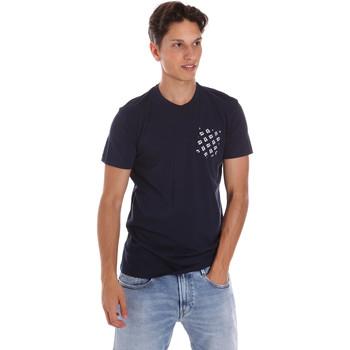 Textil Homem T-Shirt mangas curtas Key Up 2S431 0001 Azul