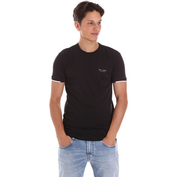 Textil Homem T-Shirt mangas curtas Key Up 2S420 0001 Preto