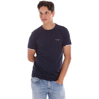Textil Homem T-Shirt mangas curtas Key Up 2S420 0001 Azul
