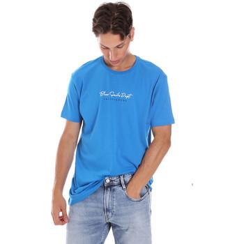 Textil Homem T-Shirt mangas curtas Key Up 2S438 0001 Azul