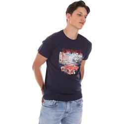 Textil Homem T-Shirt mangas curtas Key Up 2S427 0001 Azul